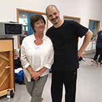 Elmhurst Ballet School, Birmingham UK.  Me with Dominic Antonucci (Ballet Master at Birmingham Royal Ballet)