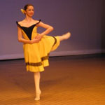 Sinclair Academy performing group dancer Stephanie.