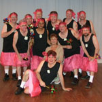 Here I am with the wonderful 'Dancing Dads'. Great fun, and always a joy to choreograph for!