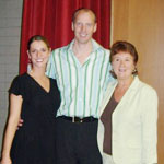 Me and another guest teacher, with Brigham Young University Advanced Ballet Summer program faculty Head Mr. Jan Dijkwel (Dutch National Ballet)