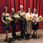 Here I am backstage with Devon Hackett, Katherine Panter-Roland (Les Grand Ballet Canadians, Berlin Ballet)David Roland (Berlin Ballet, Oakland Ballet) Anne Elise Couture (Les Grands Ballet Canadiens, Ballet Victoria)