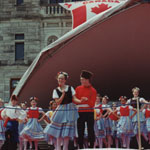Sinclair Academy Performing Group Canada Day celebrations Legislature grounds. Victoria BC Canada.