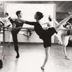 Guest teaching visiting ballet company at my studio