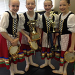 Four sweet young dancers that I had the privilege to choreograph for. Thrilled for them as they won at every competition including best overall.