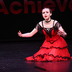 Sarah in performance, in her amazing dramatic 'Carmen' that I choreographed for her.